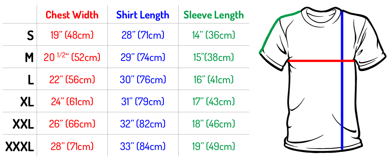 Products archive terah edun for Us shirt size chart